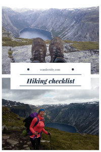 Prepare for a hike with this checklist