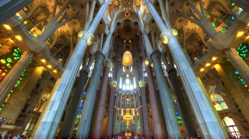 Sagrada Familia is beautiful on the inside as well, one of my bucketlist items for Barcelona