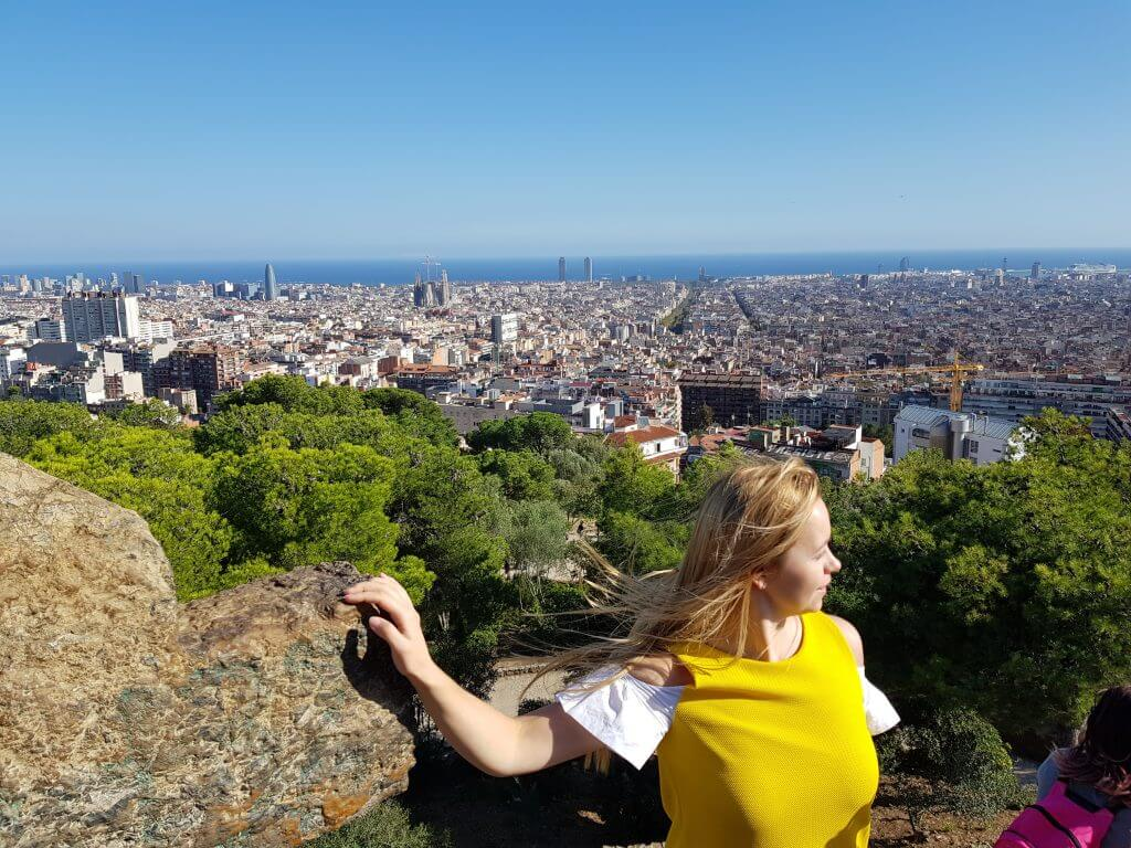 Panorama view from Park Guell, Barcelona