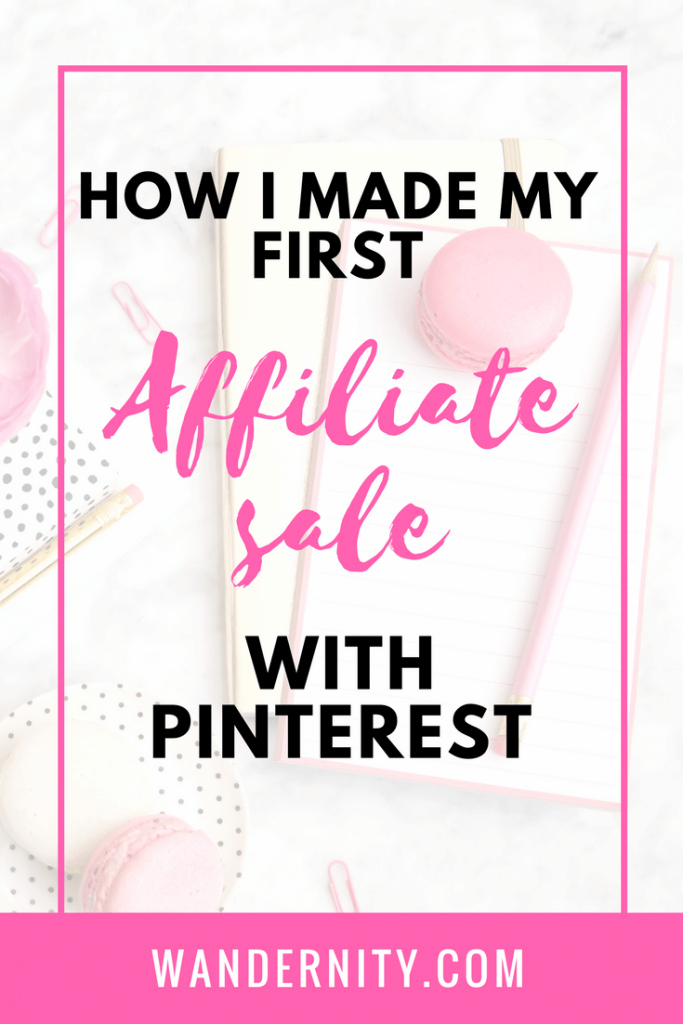 How I Made My First Affiliate Sale On Pinterest -